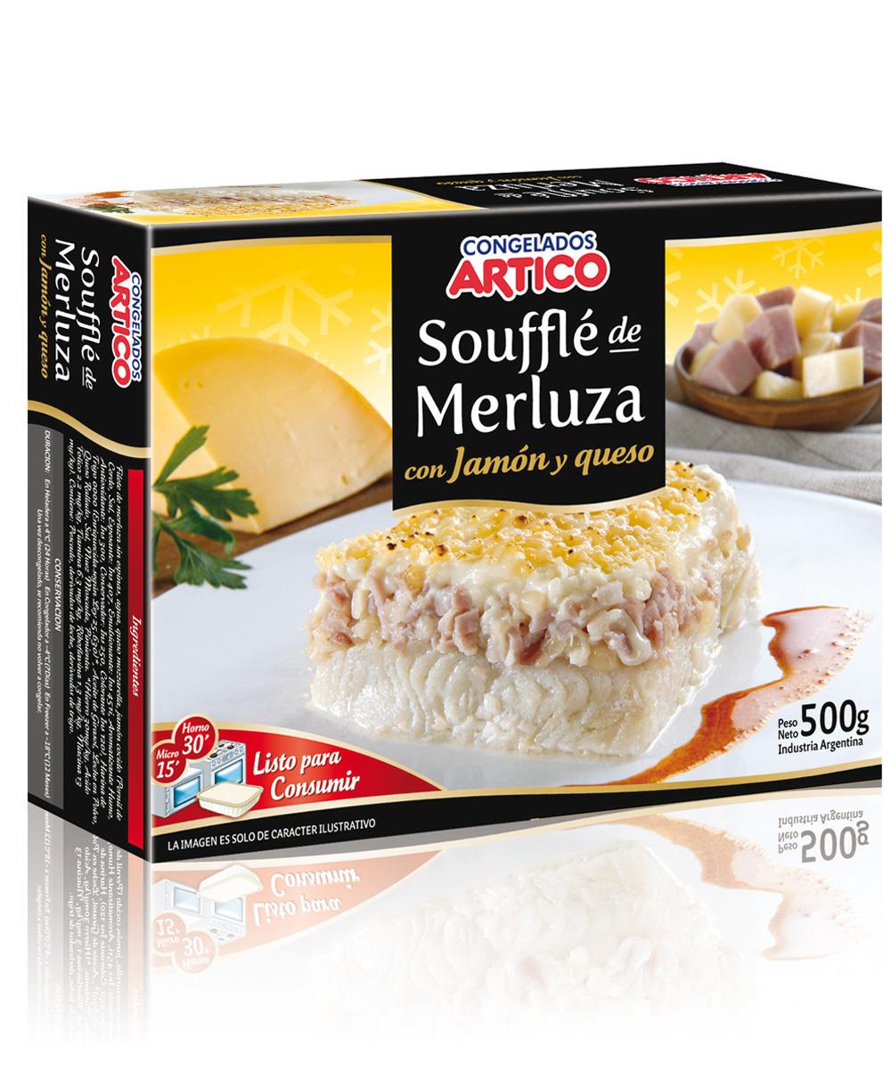Soufflé de Merluza con Jamon y Queso Congelados artico