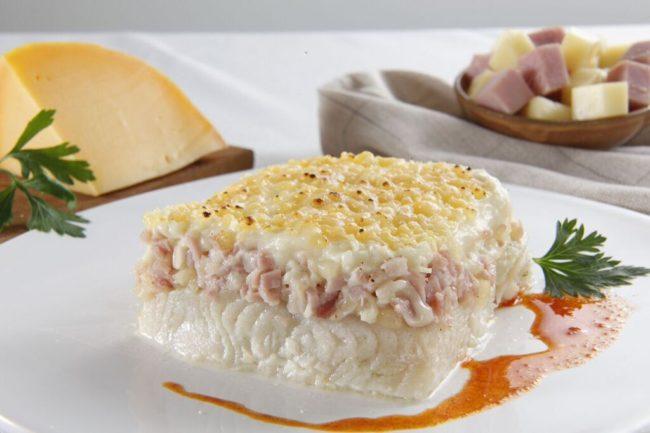 Soufflé de merluza con jamón y quesoCongelados artico
